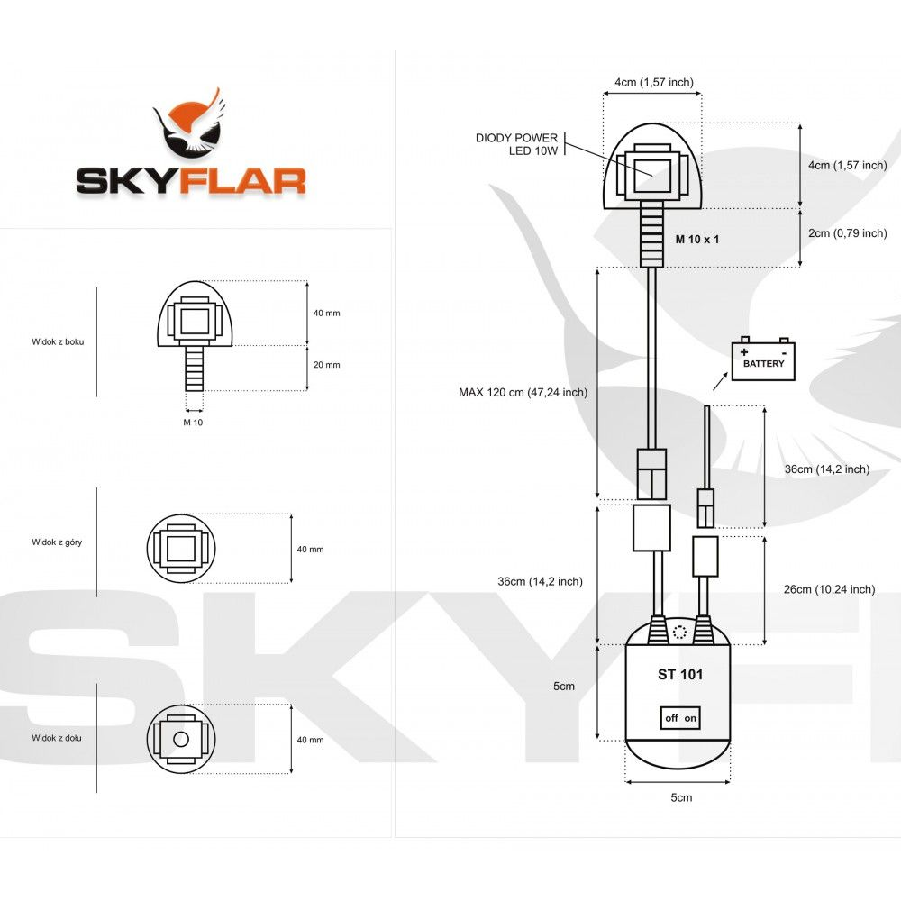 Skyflar Li Ion Battery Power Pack Kit 126v For Paramotor Ppg Led Lithium Wiring Diagram Strobe No Batteries Included